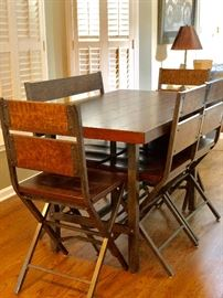 Great looking kitchen or dining room table with chairs
