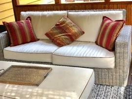 Great indoor outdoor wicker set
