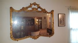 Great Detail on this gorgeous Hollywood Regency Mirror.