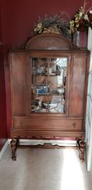 There are two of these beautiful china cabinets