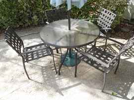 Patio Table and 4 Chairs - Sorry No Umbrella
