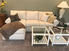 #1Ethan Allen Sofa w/Side Sectional  Chaise Lounge   90x60  $300.00