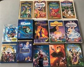 DDD010 Disney Movies on DVD & VHS