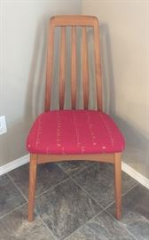 "One of ten ""Benny Linden"" teak dining chairs"