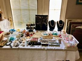 Lots of vintage jewelry.