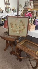 Antique and modern furniture items