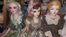 Vintage boudoir dolls