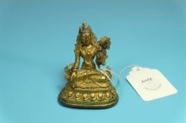 Antique Gilt Bronze TIBETAN Buddha.