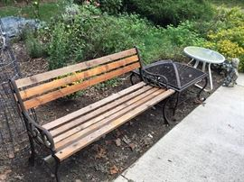 Lovely outdoor bench