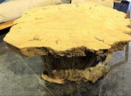 2. raw wood coffee table