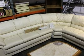 3. leather sectional