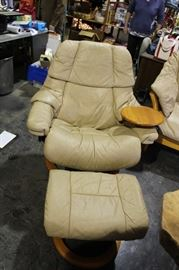 6. MCM leather lounger recliner