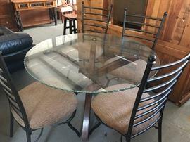 glass dinette set