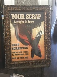 Original World War 2 Advertising (Framed)