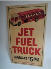 Large Texaco Indoor/Outdoor Advertising banner for ( Jet Fuel Truck + Original Jet Fuel Truck!