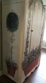 Painted Wood Wardrobe 40 Inches Wide