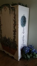 Painted Wood Wardrobe