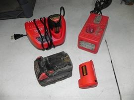 1 Milwaukee Battery Chargers and Batteries