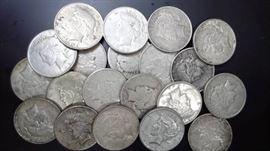 20 Peace Dollars, 1922 mixed