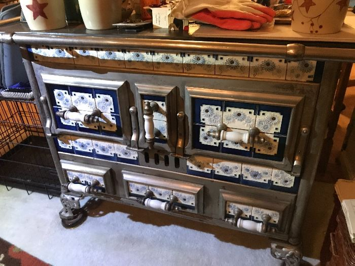 Antique Belgian stove from 1800's