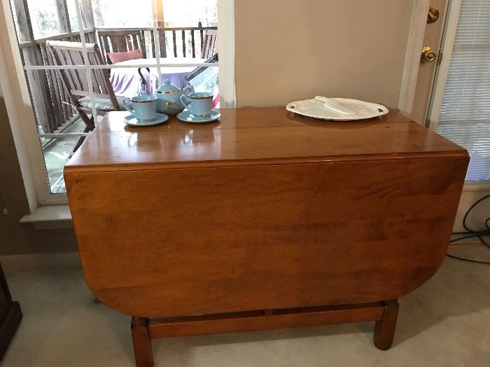 Hand made drop leaf table