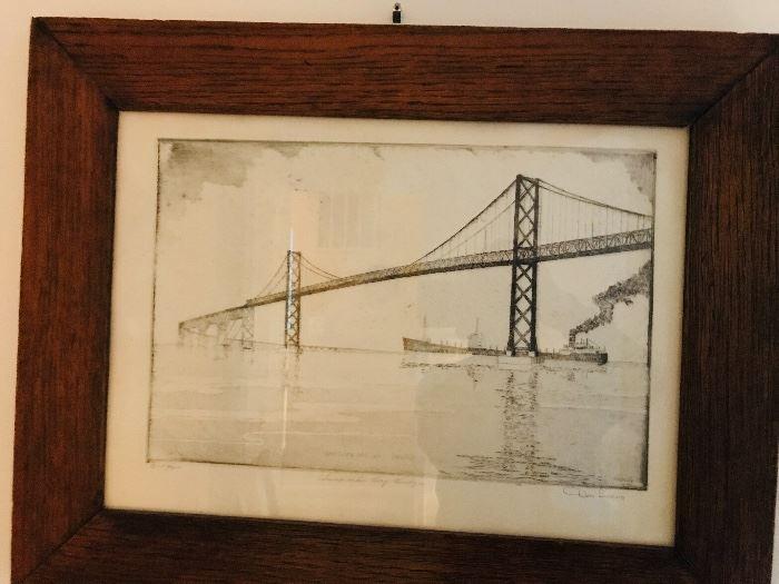 Drawing of the Bay Bridge
