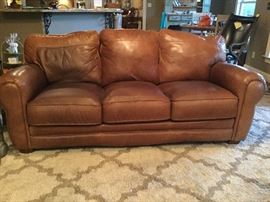 All Leather . Top Grain real leather Sofa by Lane . 80 inches long