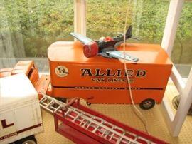 Vintage  Die Cast Allied Van Lines truck, airplane