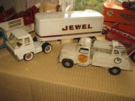 Vintage Tin Litho & Die Cast trucks