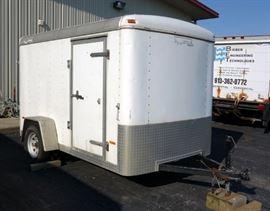 2001 Doolittle Enclosed Cargo Trailer With Drop Down Door, Side Door Access, Approx 10' x 6', VIN # 1DGCS10151M043934