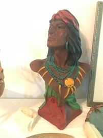 Indian Hiawatha Chalkware Bust