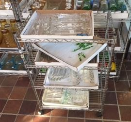 Four full trays of vintage crytal drops & etc. Individually priced.  In the first floor sun room.