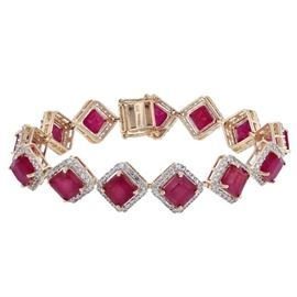 Ruby Diamond Bracelet