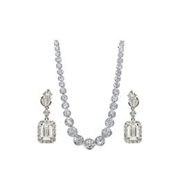 30CT Diamond Earring and Necklace