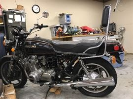 Have you always wanted to own a vintage Suzuki?  Well, this is the chance of a lifetime.  The bike is not currently running as the owner was in the midst of restoring when his health became an issue.  All the parts you need are right here to finish the job and hit the road looking nothing but C-O-O-L!!