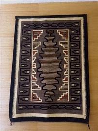 Two Grey Hills Navajo rug