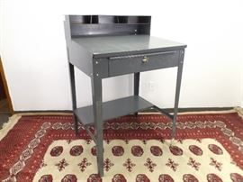 Steel Foreman's Desk w/Key