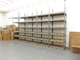 "5 - 10' x 42"" x 30"" Stand Alone Steel Boltless 6 Shelf Units"