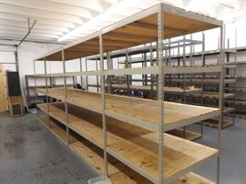 4 - 8' Stand Alone LYON Brand Steel Boltless 5 Shelf Units