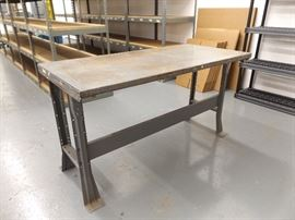 Industrial Steel Workbench