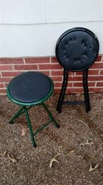 Small outdoor folding plant stands, tables or stools, rated for up to 200 lbs, ready to refurbish.