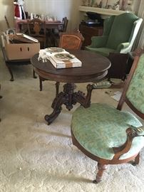 One of a kind vintage tables and chairs