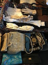 Vintage purses and gloves