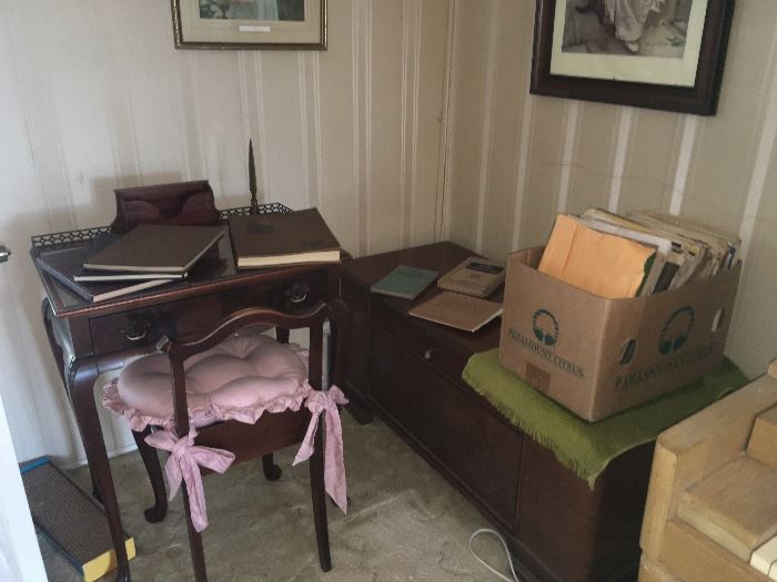 Cute antique desk and chair