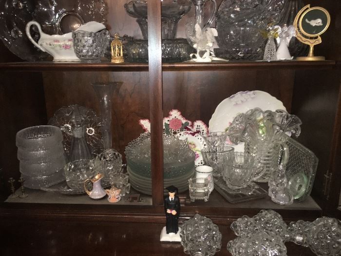 Lots of beautiful crystal and China