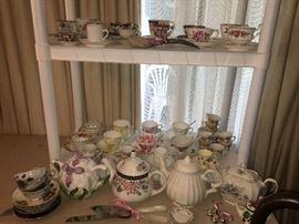 Tea cup and tea pot collection