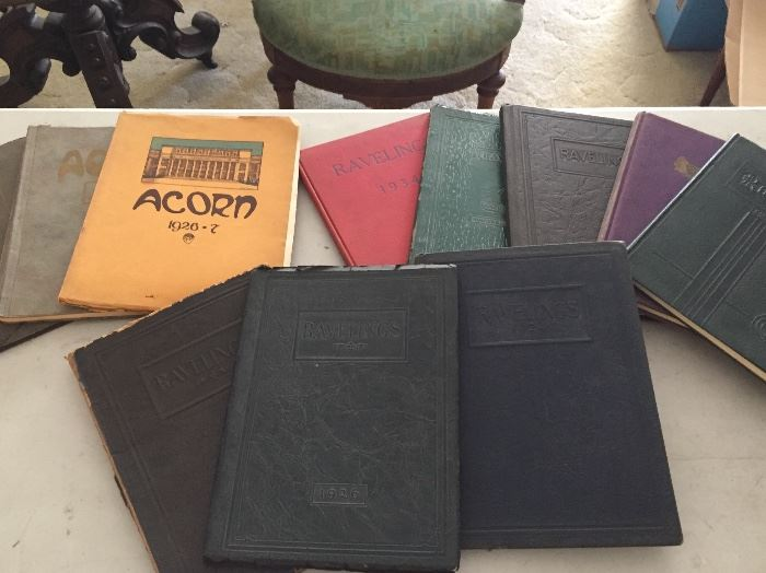 Antique yearbooks