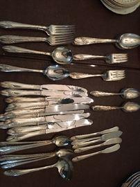Vintage silver plate sets