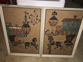Mid century wall art set