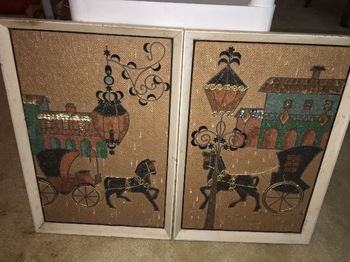 Mid century wall art set